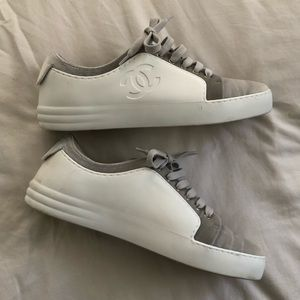 d0422266c5d3 CHANEL Silver Velvet Weekend Low Top Sneaker
